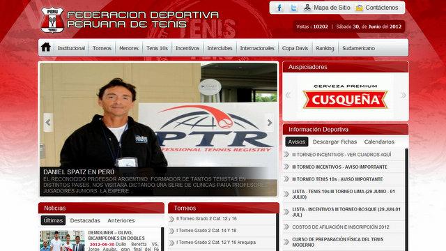 Desde la Federacion Deportiva Peruana de Tenis