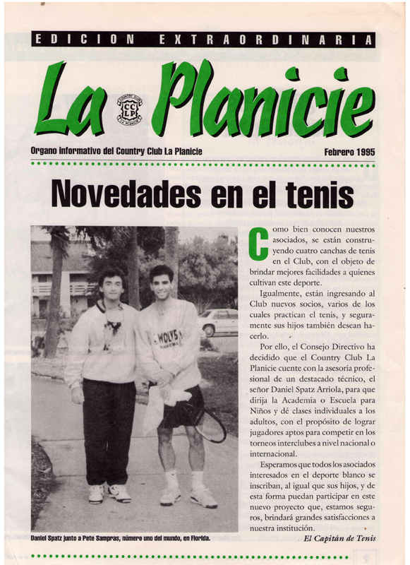 Daniel Spatz in the La Planicie Newsletter